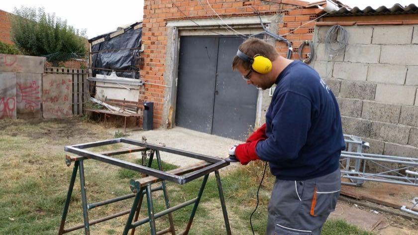 preparing the frame